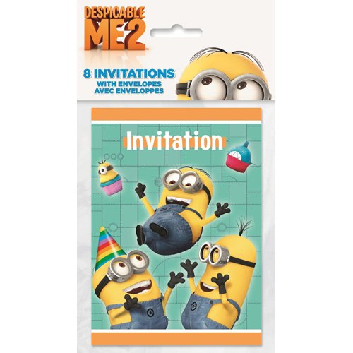 Despicable Me 2 Party Invitations [8 Per Pack]