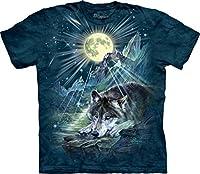 The Mountain Unisex Kinder Wolf Symphony Mondlicht T Shirt - The Mountain