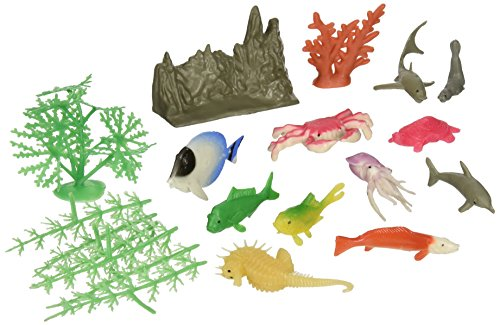 US Toy Assorted Ocean Animal and Plant Play Set (20 Piece)