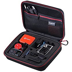 Smatree SmaCase G160s Compact GoPro Case for Gopro Hero4, 3+, 3, 2, 1 Cameras and Essential Accessories (8.6