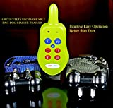 All Rechargeable Version Groovypets® 2-Dog Remote Dog Training Collar Systems:Rechargeable Remote Dog Collar No Bark Training Shock Collar System
