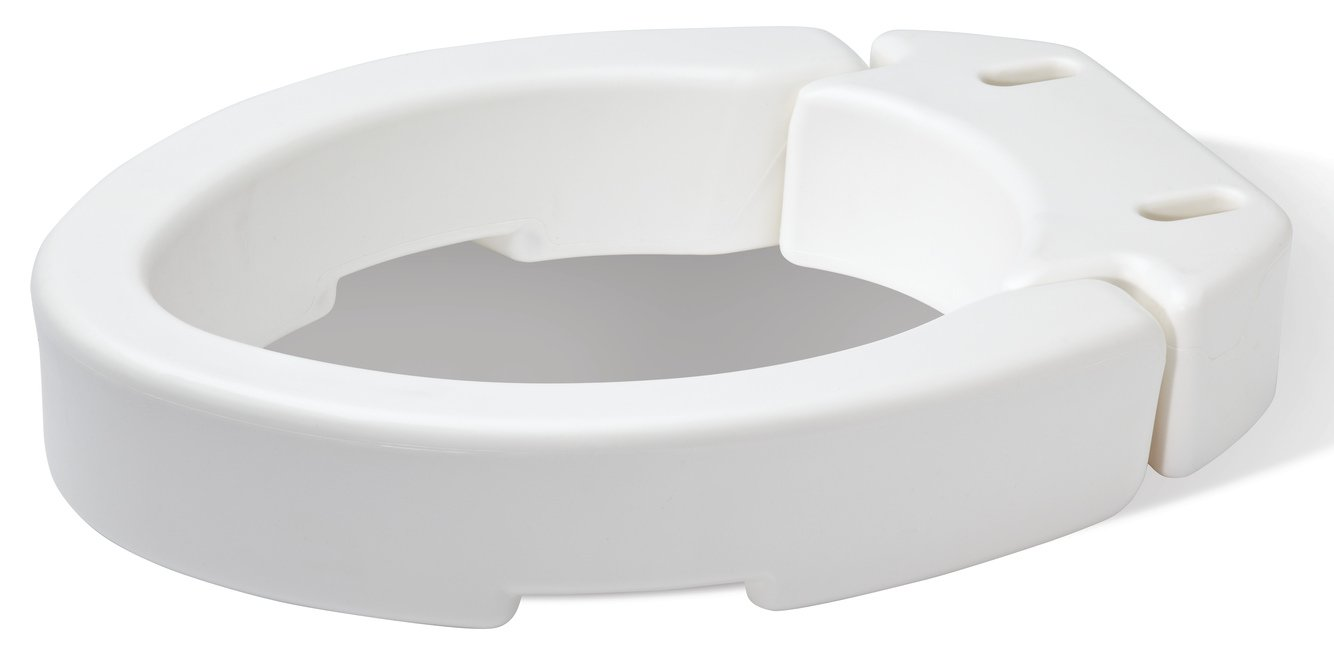 Carex Health Brands Elongated Hinged Toilet Seat Riser