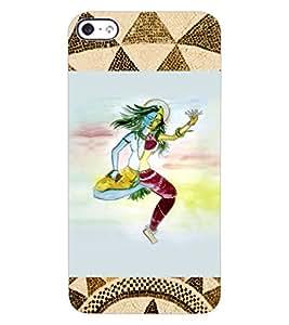 ColourCraft Ardhnarishwar Design Back Case Cover for APPLE IPHONE 4