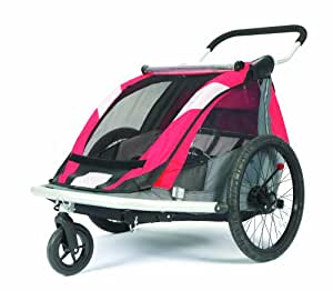 Croozer 525 Double Child Bicycle Trailer (Red/Silver/Grey)