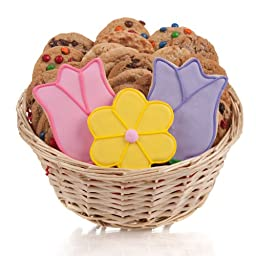Tulips & Daisy Cookie Gift Basket- 24 Pc.