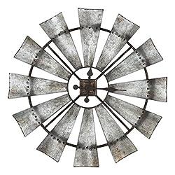 Special T Imports 30 Rustic Windmill Clock