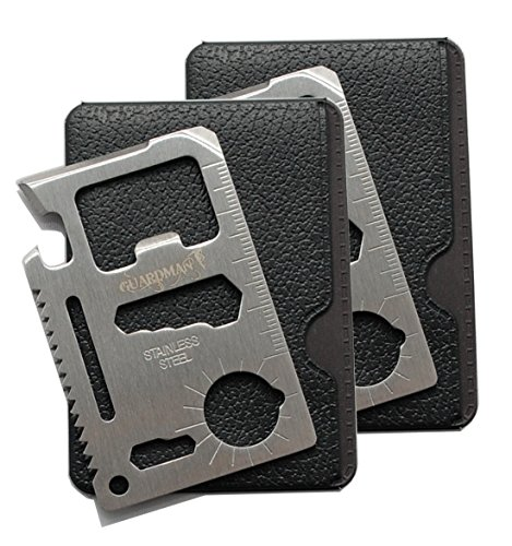 Guardman 2pcs 11 in 1 Multi Tool Card Survival Card Tool Fits Perfect in Your Wallet (2 Pack)