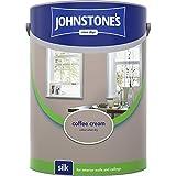 Johnstones No Ordinary Paint Water Based Interior Vinyl Silk Emulsion Coffee Cream 5 Litre