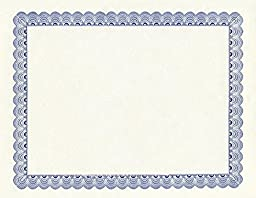 Geographics Conventional Blue Certificates, 8.5 x 11 Inches, Blue, 25-Sheet Pack (20007)