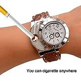(inkint)充電式ライター 2機能付腕時計 防風 無炎 安全 USB充電式ライター ポータブル オシャレ プレゼント 省エネ ホワイト
