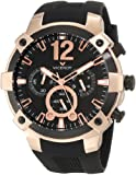 Viceroy Men's 47633-95 Rose Gold Chronograph Black Rubber Watch