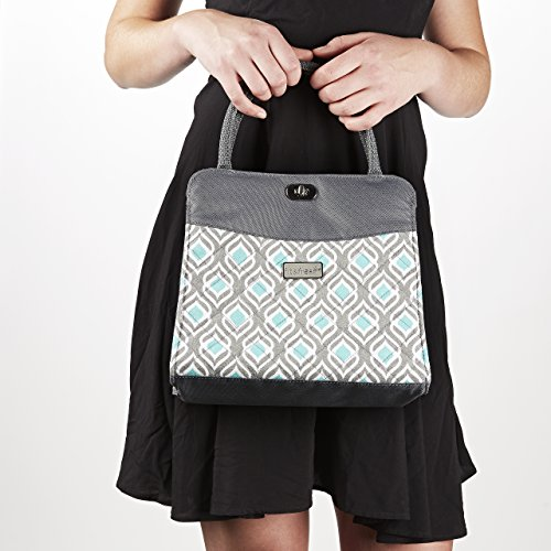 Fit & Fresh Signature Collection Ladies' Hobart Insulated Handbag - Grey Aqua Leaf Drop - 1