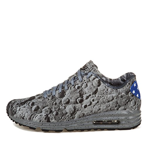 Nike Air Max 90-SP Lunar 'Moon Landing'Rflct Slvr/Slvr Rflct Mtllc Gl-Trainer, Grigio (grigio), 44 EU