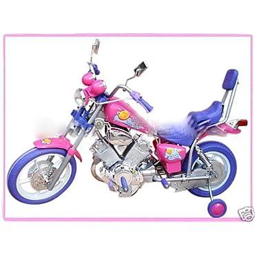 GIRLS PINK ELECTRIC RIDE ON HARLEY Motorcycle Power Wheels Car