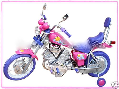 GIRLS PINK ELECTRIC RIDE ON HARLEY Motorcycle Power Wheels Car