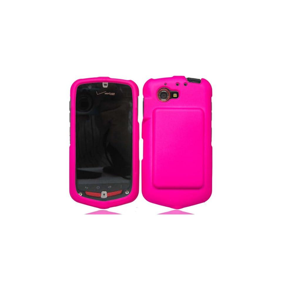LF Pink Hard Cover Case, Lf Stylus Pen and Screen Wiper Bundle Accessory for Verizon Casio C811 G'zOne Commando Cell Phones & Accessories