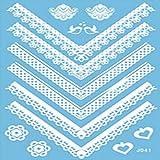 VIESN Tattoo Aufkleber Temporäre Körperkunst Entfernbare Muster Sticker für Ihre Körper Weiß Schwarz Design 3 (Mode3)