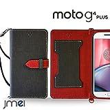 Moto G4 Plus ケース JMEIオリジナルカルネケース VESTA ブラック Google MOTOROLA モトローラ g4 プラス スマホ カバー スマホケース 手帳型 ショルダー スリム スマートフォン