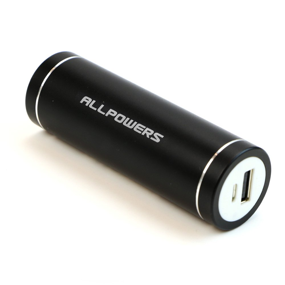 ALLPOWERS 5400mAh Portable Charger External Battery Pack Power Bank for iPhone 6S 6 Plus iPad Nexus Samsung Galaxy S6 Edge S5 S4 Note 4 Tablet and more(Black)