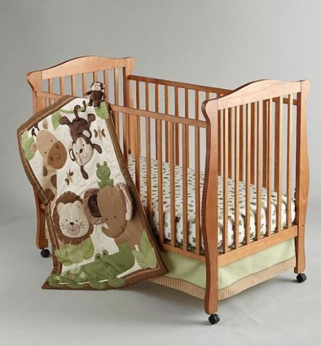 4-piece Safari Baby Crib Bedding Set By Nojo