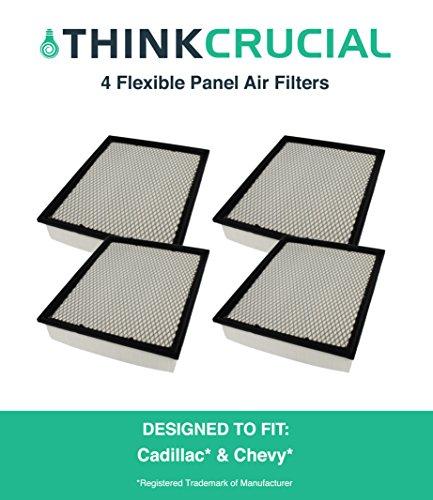 4 Premium Extra Guard Flexible Panel Air Filter, Part # A45315 & # CA8755A, Fits Acura TSX, Honda Accord, Maximum Air Flow, 1.57 x 5.92 x 13.5 in., by Think Crucial