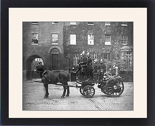 Framed Print of LCC-MFB horse-drawn steamer at Southwark (Horse Drawn Steamer compare prices)