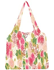 Snoogg Flower Style Womens Jhola Shape Tote Bag