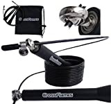 Ultra Fast and Adjustable Jump Rope with Ball Bearing; Perfect for Crossfit, Endurance Training, and Boxing; Designed for People of All Sizes and Levels; Enhance Your skipping rope Workout Now!