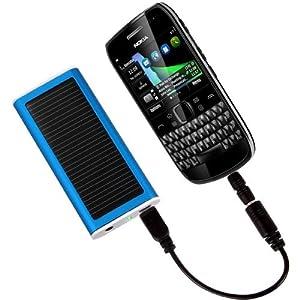 August SPC1350 Chargeur solaire Universel et batterie avec connecteurs pour téléphones portables et autres baladeurs numériques + cable USB: capacité 1350mAh