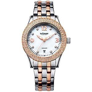 INTIMES インタイムス スワロフスキー 36mm レディース 腕時計 (ローズゴールド)