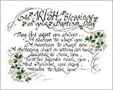 LPG Greetings Irish Blessing for Baptism Decor, Green/White/Black
