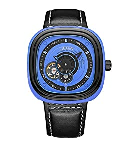 JEDIR Men's ML3012G/BKBE-2 Fashion Business Casual Waterproof Leather and Mechanical Movement Watch