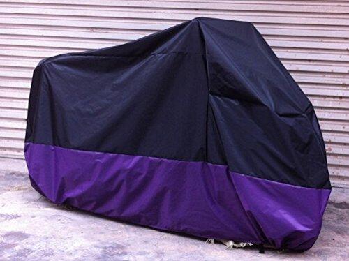 Violet-Noir-Housse-Bache-Protection-Couverture-de-moto-velo