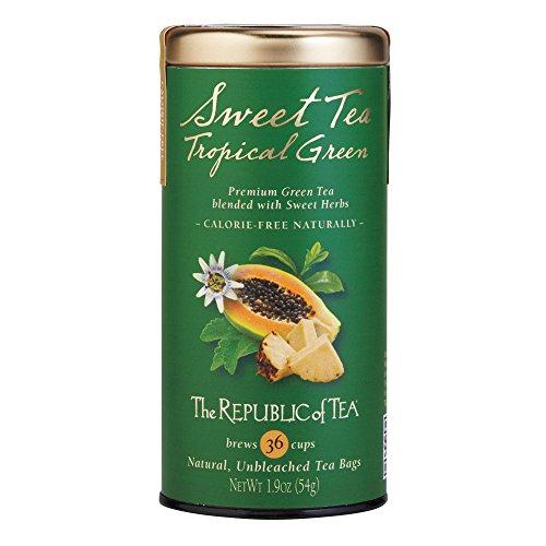 The Republic Of Tea Sweet Tea Tropical Green Tea, 36 Tea Bags