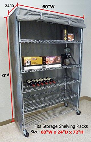 Storage Shelving unit cover, fits racks 60