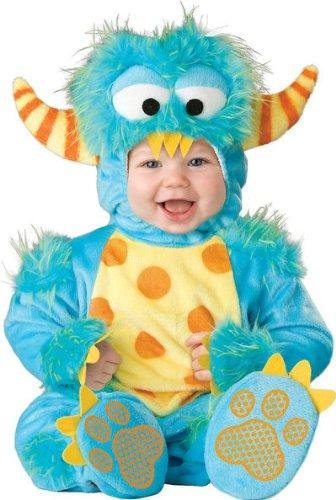 Lil Characters Unisex-baby Newborn Monster Costume, Blue/Yellow/Orange, Small