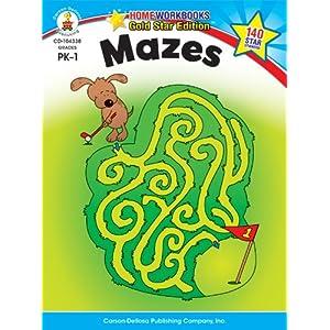 Mazes, Grades PK - 1 (Home Workbooks)