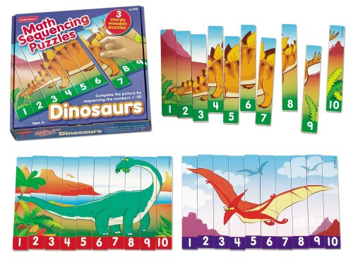 Cheap Lakeshore Learning Materials Number Sequencing Dinosaur Puzzles (B004ZAKNC6)