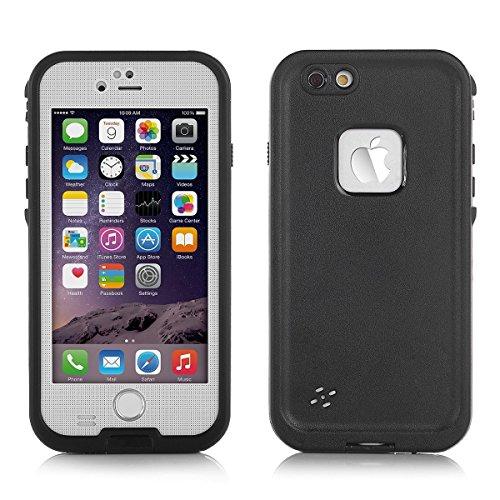 Bengoo スマホ防水ケース iPhone 6PLUS iPhone 6sPLUS用NEW 防塵ケース スマートフォン用防水 防滴  アウトドア耐衝撃シースルー対応衝撃吸収防じん防雪黒 指紋認証対応