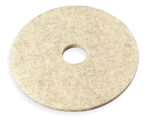 """19"""" 3500 Ultra High-Speed Natural Blend Floor Burnishing Pad In Natural Tan"""