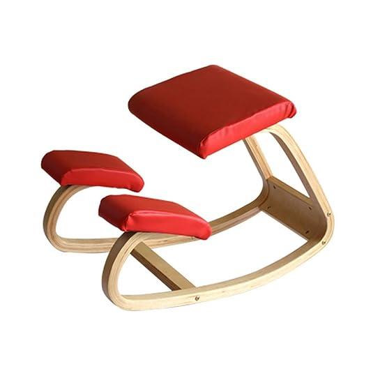 Sgabello anti-humpback Sedia, Posizione corretta di seduta Anti-miopia Seggiolino per bambini Sedia Correzione vertebrale Sedia ginocchio Nero, azzurro, rosso, bianco corretta posizione di seduta ( Colore : Rosso )
