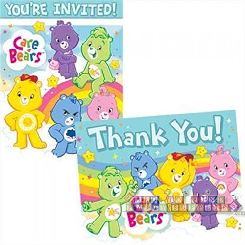 Care Bears Invitations and Thank You Notes w/ Envelopes (8ct ea.) (Care Bears Invitations compare prices)