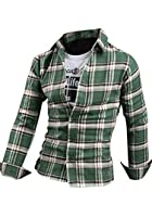 Easter sale 2014 New Designer Stylish Casual Slim Muscle Fit Men's Checkered Shirt SH024