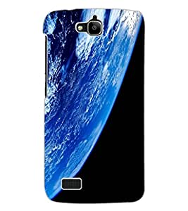 ColourCraft Earth Design Back Case Cover for HUAWEI HONOR HOLLY