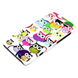 DeinPhone Small Coloured Owls Circles Hardcase Cover Bumper for Motorola Razr I