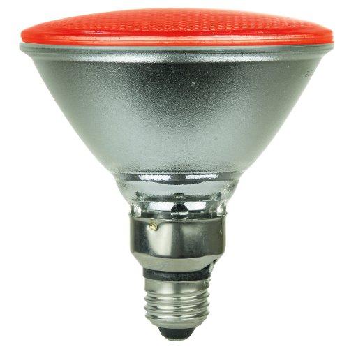 Sunlite 80043-Su Par38/130Led/8W/R Led 120-Volt 8-Watt Medium Based Par38 Turtle Friendly Lamp, Red