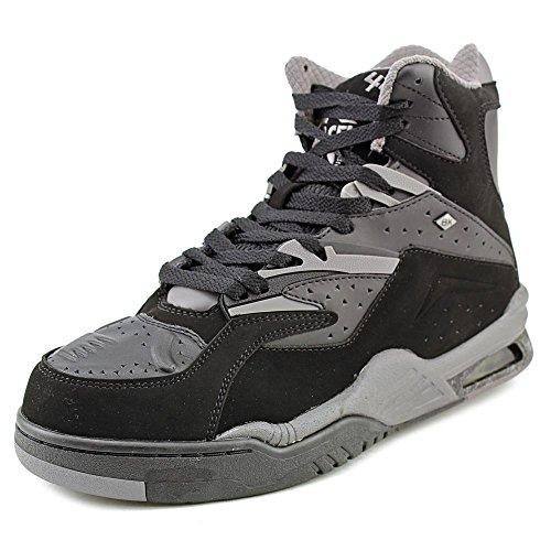 British Knights Men's Hightop Sneaker, Black/Charcoal, 8.5 M US