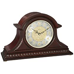 Seiko Mantel Chime Clock with Hand-Rubbed Finish