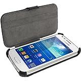 igadgitz Premium Folie Schwarz PU Ledertasche Schutzhülle für Samsung Galaxy Ace 3 S7275 S7270 Case Cover Mit Betrachtungs Stand + Displayschutzfolie