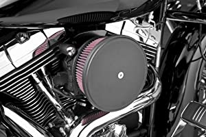 2006 Harley Davidson FXSTSI Springer Softail Billet Sucker Stage II Air Filter Kit with Steel Cover - Smooth Black - Red Filter, Manufacturer: Arlen Ness, BIG SUCKER STG2,STL SMTH,BLK